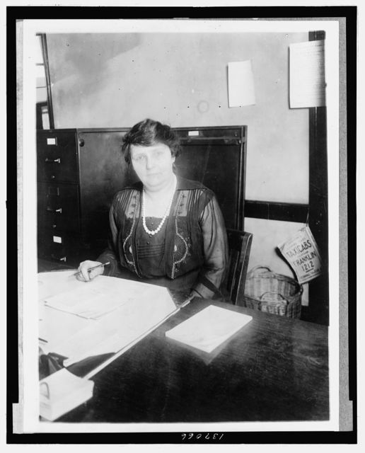 Miss Laura Eckels, chief of the Orders Division of the U.S. Bureau of Engraving and Printing