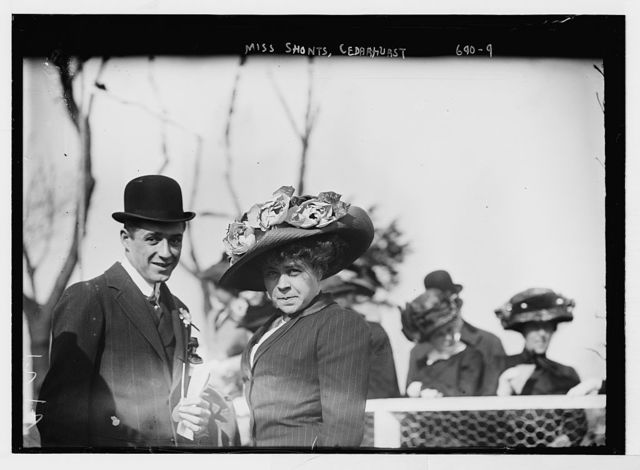 Miss Shonts, and gentleman, at Cedarhurst Cup Horse show