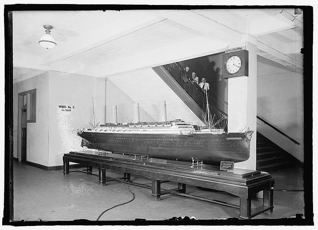 Model of the steamship Leviathan