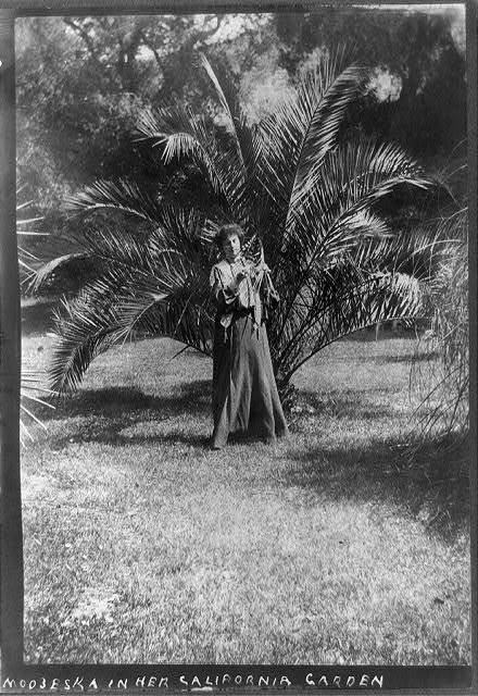 Modjeska in her California garden