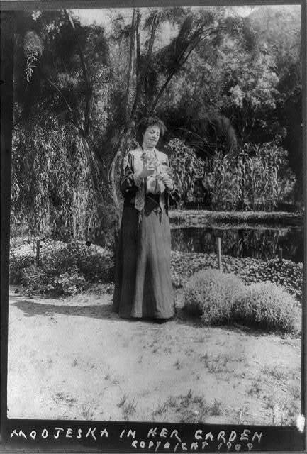 Modjeska in her garden