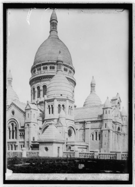 Montmartre, Paris. Cathedral of Sacred Heart