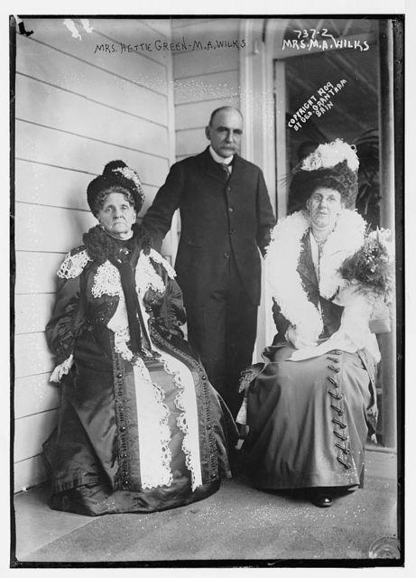 Mrs. Hettie Green, M.A. Wilks, Mrs. M.A. Wilks