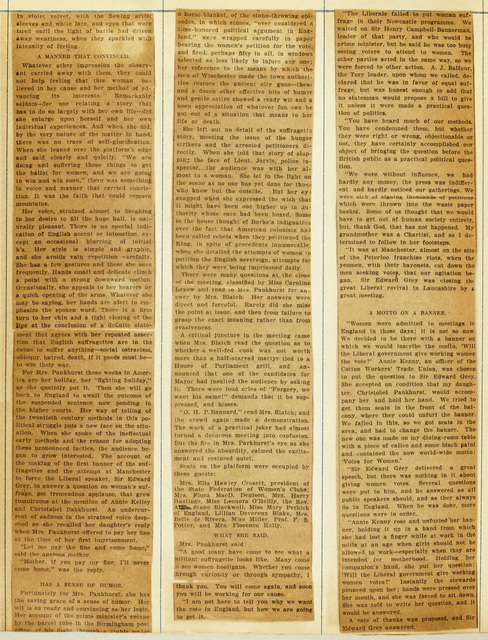 Mrs. Pankhurst's Address; Carnegie Hall Throng Heard Englishwoman Eagerly; page 2