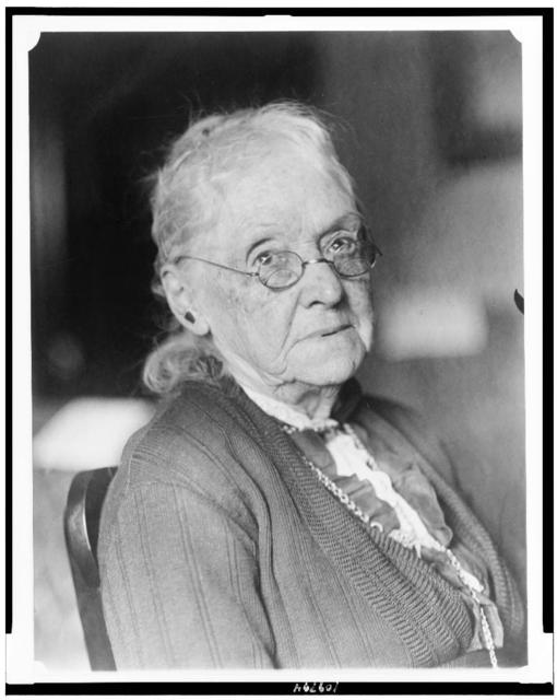[Mrs. Rebecca Latimer Felton, head-and-shoulders portrait, seated, facing right]
