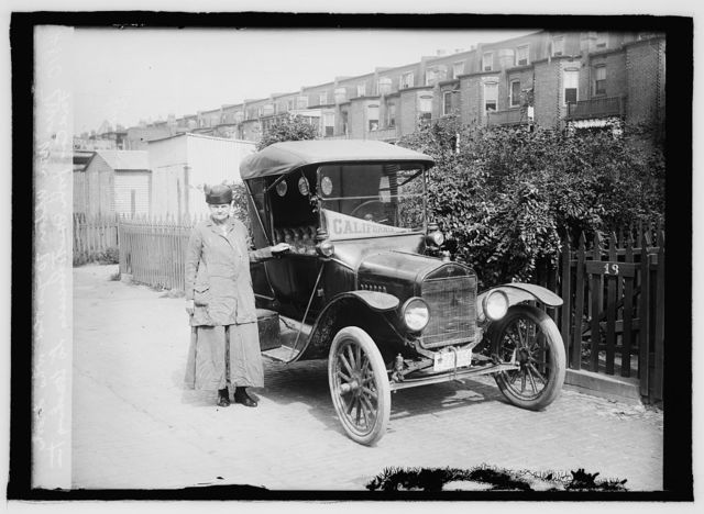 Mrs. Wm. Upton, 70 yrs. old who drove Ford car from San Francisco to Washington