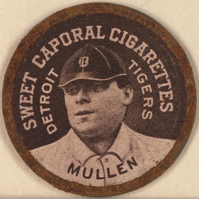 [Mullin, Detroit Tigers, baseball card portrait]