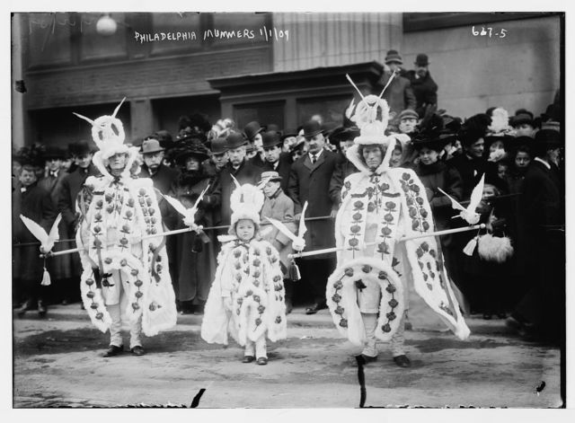 Mummers on Broad St., New Year's Day, Philadelphia, PA.