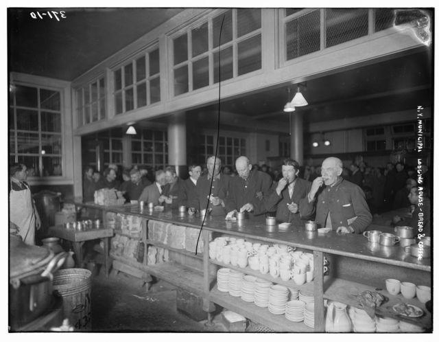 N.Y. Municipal Lodging House: Bread & coffee