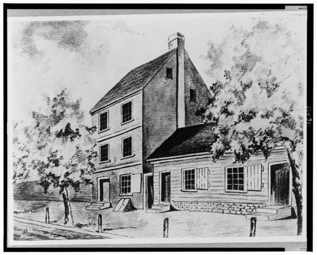 Office of the Secty. of State, (then designated Secty. of Foreign Affairs) stood on 15th Street north of the present Treasury, 1782-83