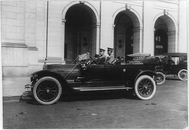Official U.S. Government (Army?) automobile at the Union Station, Washington, D.C.
