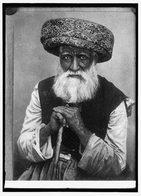 Palestine, a Moslem [Muslim] chief. Sheek [i.e., Sheikh] of the Palestine desert