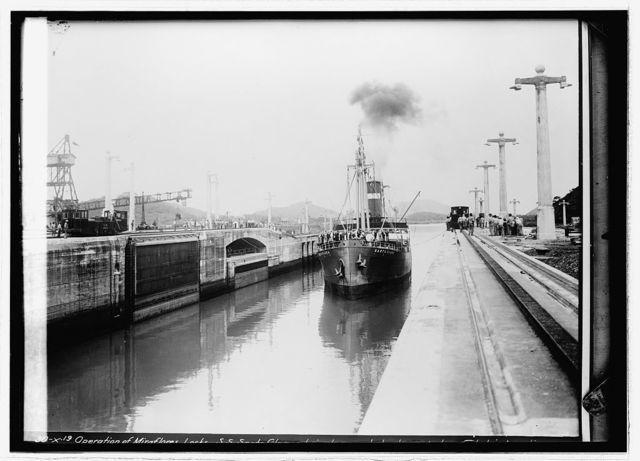 Panama Canal. Miraflores Lock