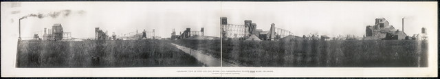 Panoramic view of lead and zinc mining and concentrating plants near Miami, Oklahoma