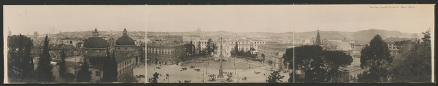 [Panoramic view of Rome from Monte Pinchio]