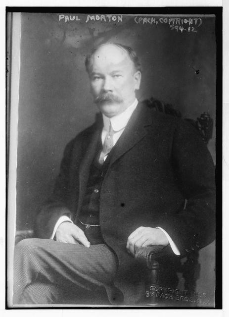Paul Morton, seated, Pach Bros., N.Y / Pach Bros.