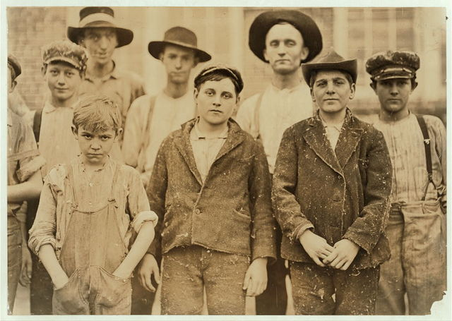 Payne Cotton Mill, Macon, Ga. Boy with hands in pockets been in mill 1 year. See label #538.  Location: Macon, Georgia.