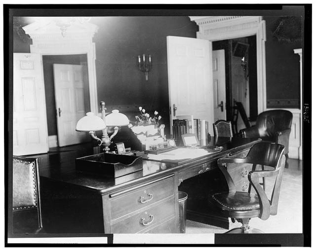 President's desk, executive offices