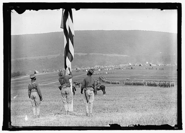 Raising flag, National Guard, Harper's Ferry, W.Va.