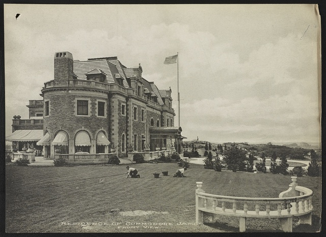 Residence of Commodore James, front view