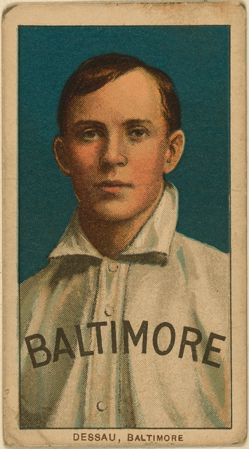 [Rube Dessau, Baltimore Team, baseball card portrait]