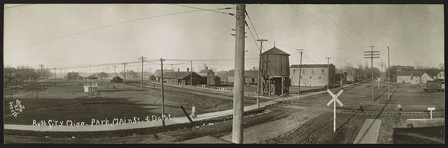 Rush City, Minn., Park, Main St. & Depot