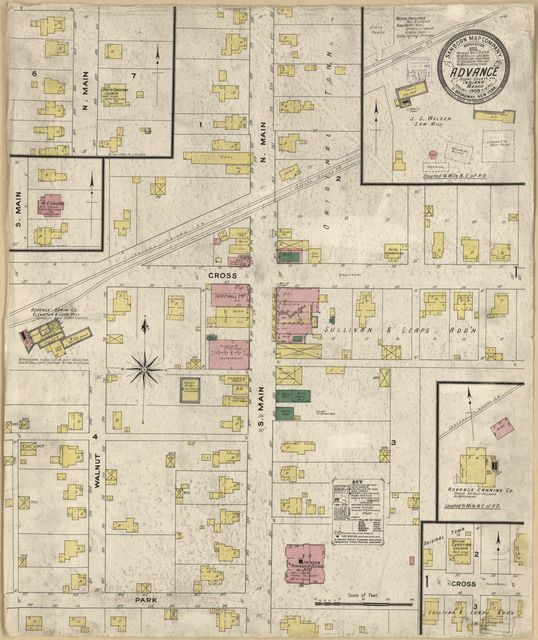 Sanborn Fire Insurance Map from Advance, Boone County, Indiana.