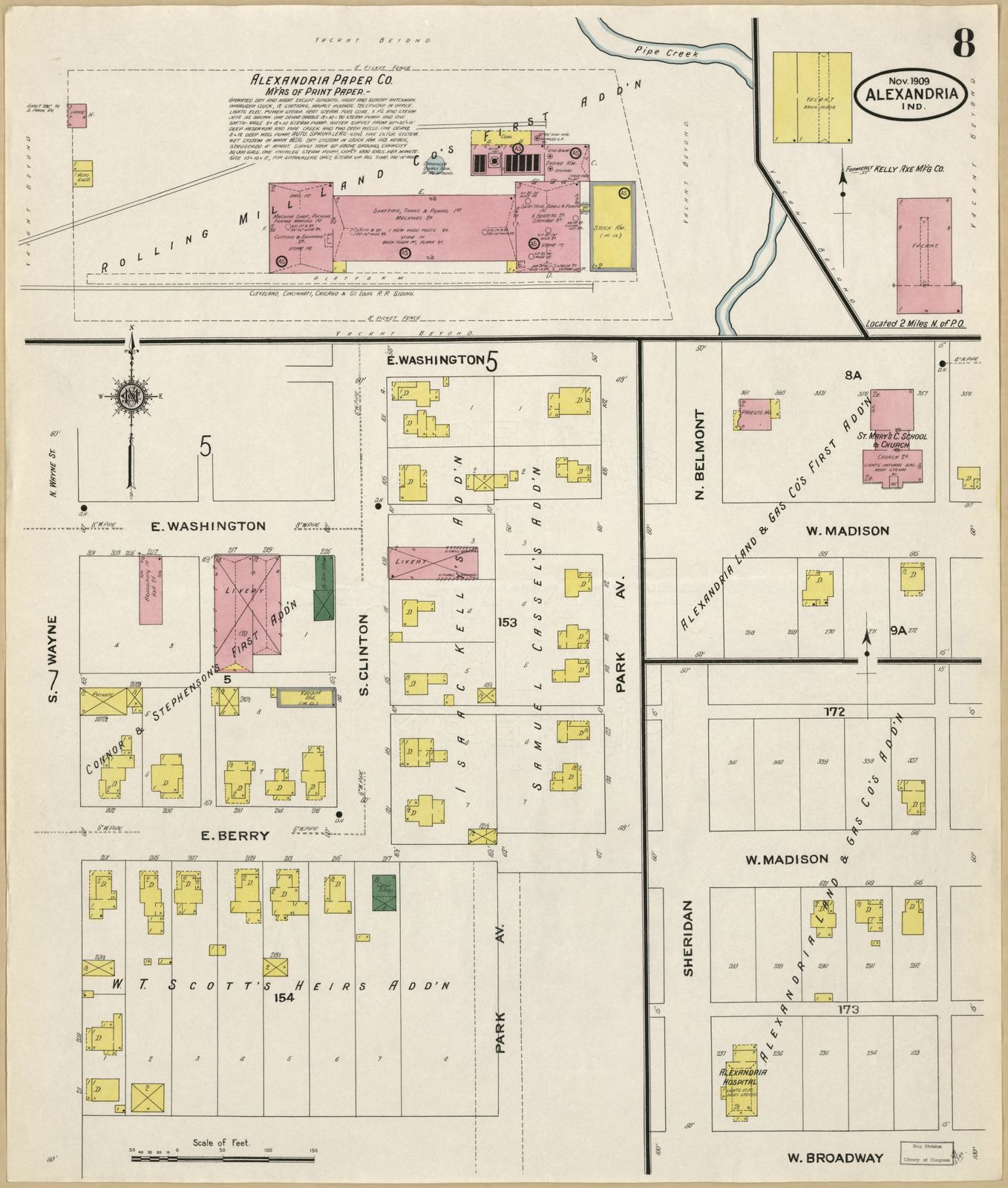 Sanborn Fire Insurance Map From Alexandria Madison County Indiana