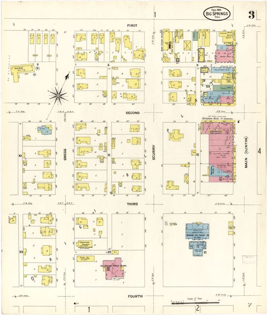 Sanborn Fire Insurance Map from Big Spring, Howard County, Texas.