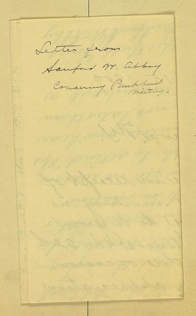 Sanford W. Abbey to Anne Fitzhugh Miller