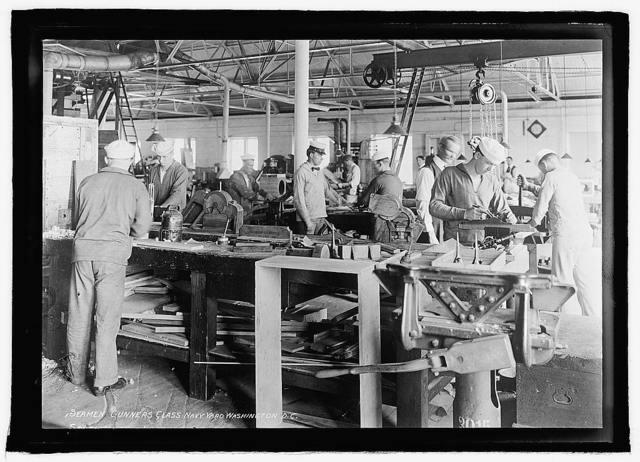 Seamen gunners class, Navy Yard, Washington, D.C.
