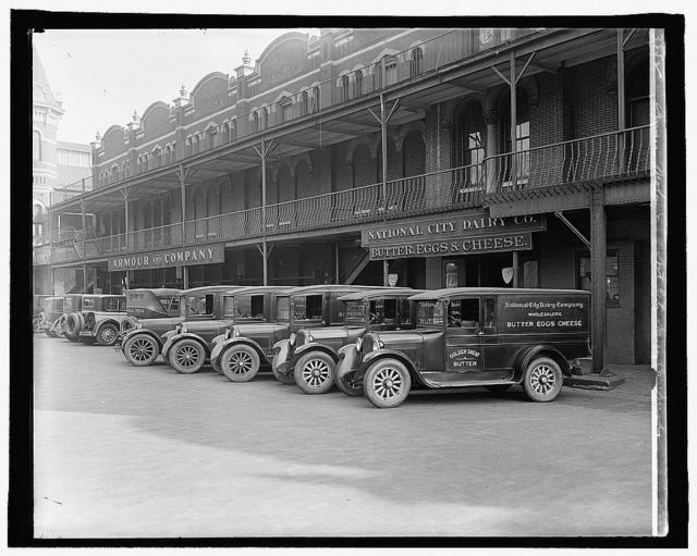 Semmes Motor Co., Nat. City Dairy Co. trucks