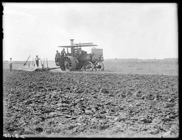 Several men plowing, Buffalo County, Nebraska