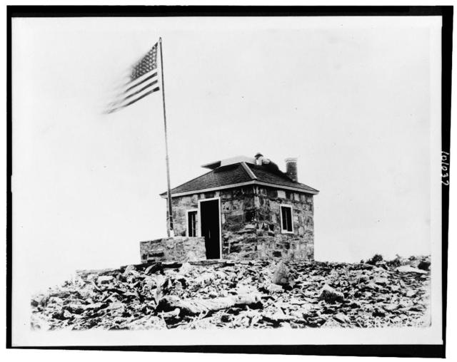 [Signal station in Rocky Mountains-probably Rocky Mountain National Park]