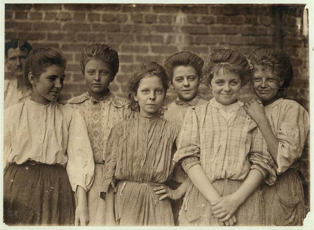 Some adolescents in a Georgia Cotton Mill.  Location: Georgia.