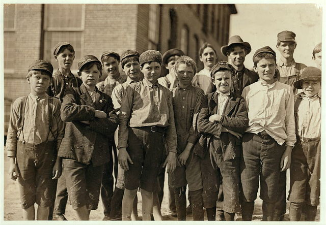 Some of the boys in the Wellingham Cotton Mills, Macon, Ga.  Location: Macon, Georgia.