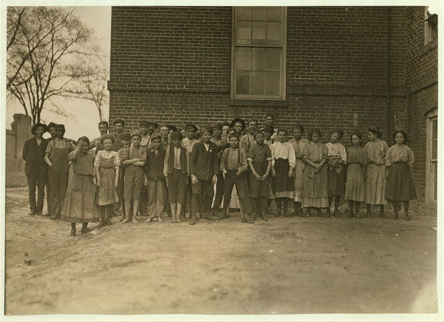 Some of the youngsters (not all) that are at work in Bibb Mill No. 2, Macon Ga.  Location: Macon, Georgia. / Photo by [...]