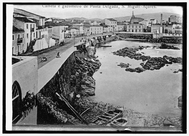 Spain, waterfront at Delgada, in the Azores