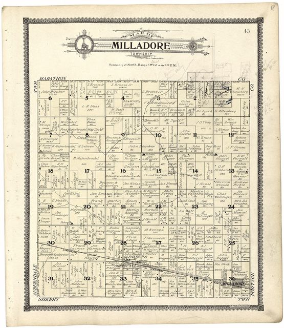 Standard atlas of Wood County, Wisconsin : including a plat book of the villages, cities and townships of the county, map of the state, United States and world : patrons directory, reference business directory and departments devoted to general information, analysis of the system of U.S. land surveys, digest of the system of civil government, etc. etc. /