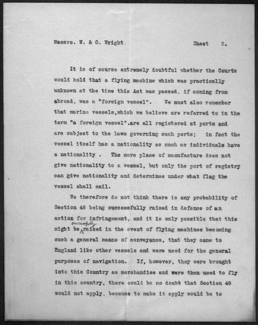 Subject File:  Foreign Business--Agents and Representatives--Brewer and Son, May 1909