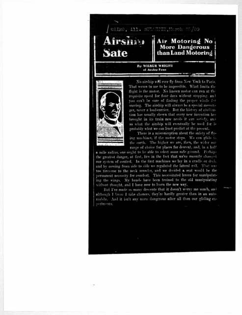 Subject File:  Writings, 1909