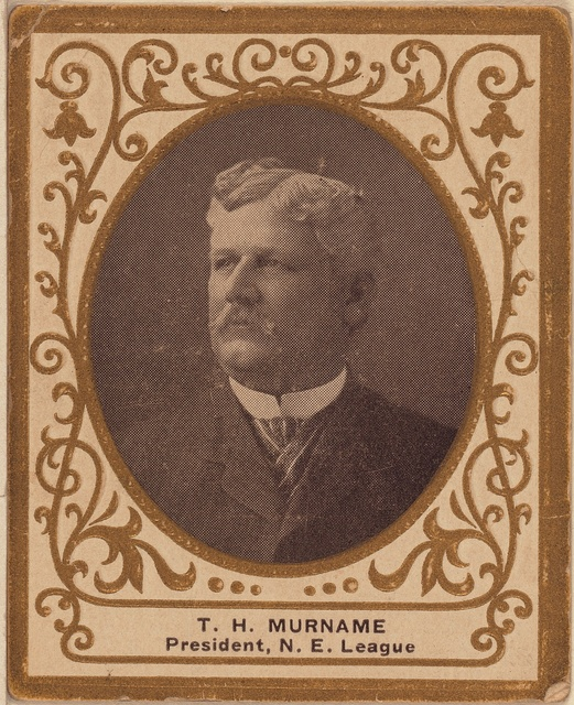 [T. H. Murnane, New England League, baseball card portrait]