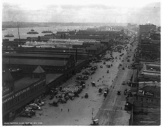 The docks along West St., New York City