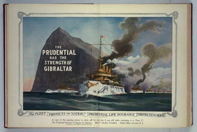 The fleet protects the nation - Prudential Life Insurance protects the home / H.A. Petersen.