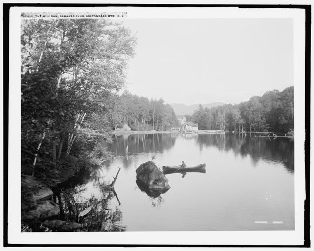 The Mill dam, Saranac Club, Adirondack Mts., N.Y.