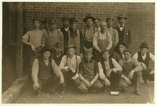 The overseers and superintendent in the Bill [i.e., Bibb] Mill No. 1, Macon, Ga.  Location: Macon, Georgia.