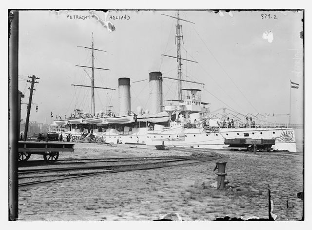 "The ship ""Utrecht"" of Holland, at pier"
