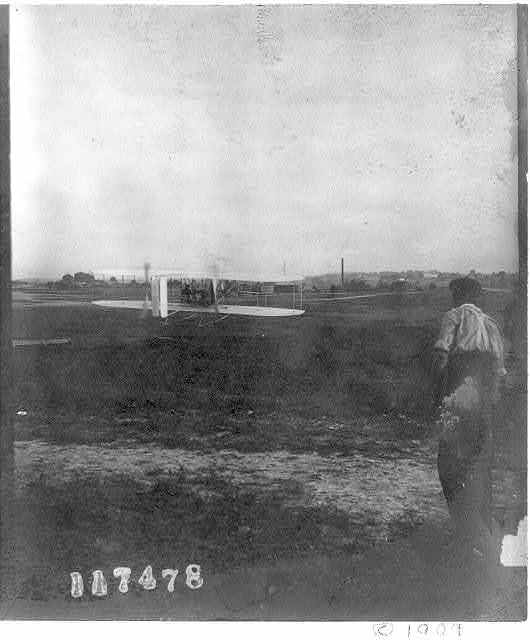 The Wright airplane of 1909 at Ft. Myer, Va.