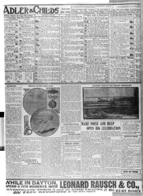 [The Wright Brothers Edition, The Dayton Herald, 16 June 1909]
