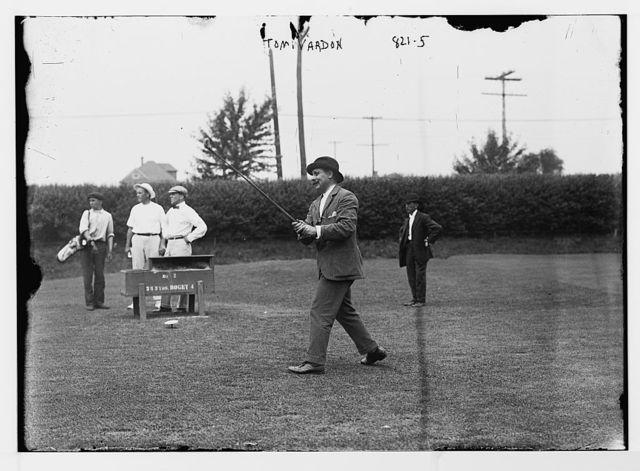 Tom Vardon, teeing off on golf corse